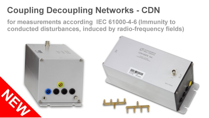 Coupling Decoupling Networks - CDN for measurements according IEC 61000-4-6 (Immunity to conducted disturbances, induced by radio-frequency fields)